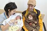 Alexandr Búda poprvé spatřil svět 10. května v1.21 hodin. Radují se zněj rodiče Eliška a Lukáš i sestra Ella zÚstí nad Orlicí. Chlapeček vážil 2,780 kg.