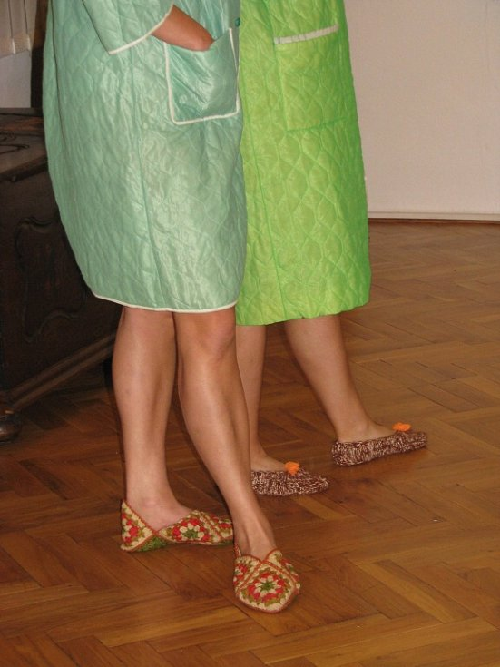 Retro módní přehlídka v žamberském muzeu.