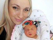 Adriana Prachařová je prvorozená holčička Elišky a Aleše ze Žamberka. Když se 17. 5. v 23.37 hodin narodila, tak vážila 3180 g.