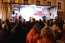 Z demonstrace proti ženské věznici v Králíkách.