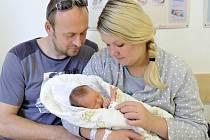 Jakub Šimůnek bude doma v Chocni s rodiči Zuzanou a Martinem. Narodil se jim 29. července v 17.28, kdy vážil 2,7 kg.
