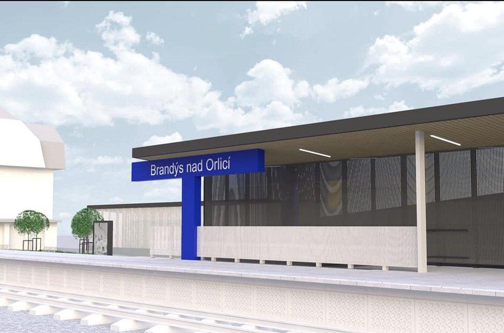 Při modernizaci tratě projde kompletní proměnou železniční stanice v Brandýse nad Orlicí.