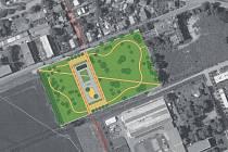 Park za pivovarem: urbanistický návrh.
