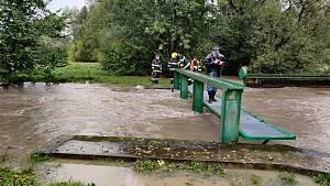 Povodňová situace v Pardubickém kraji - středa 14. října