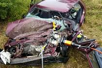 Z tragické dopravní nehody u Rudoltic.