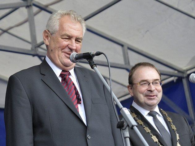Prezident Miloš Zeman v Ústí nad Orlicí.