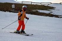 V Českých Petrovicích se na Štěpána lyžovalo.