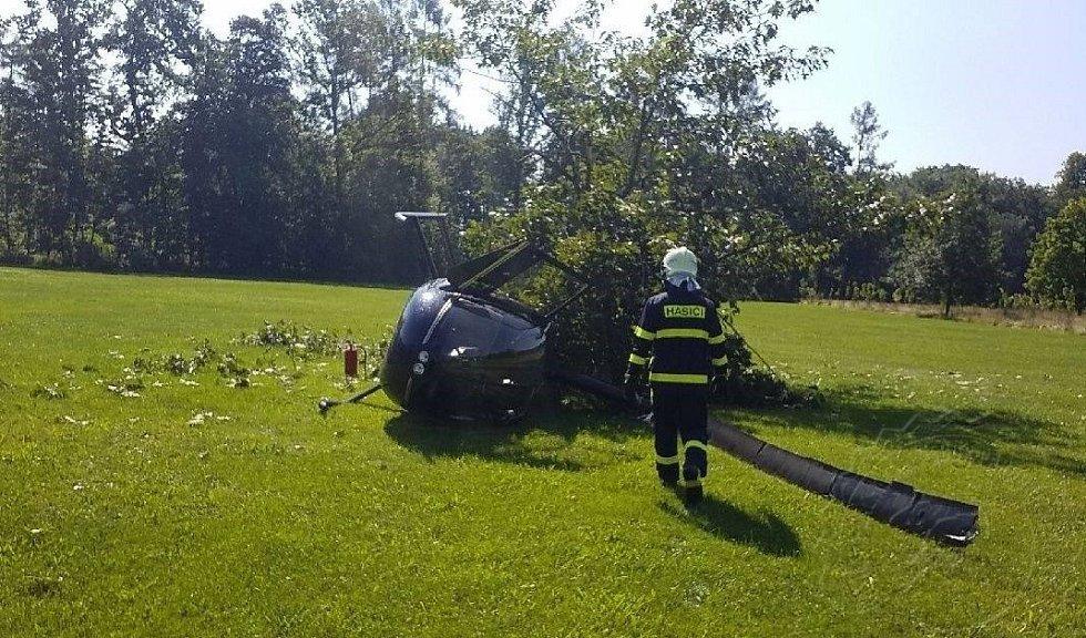 Pád vrtulníku v Žamberku