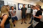 V nitru - výstava abstraktních obrazů v ústeckém klubu Popráč.