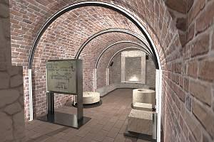 Zámecké sklepení, které patří městskému muzeu se promění v lapidárium.