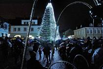 Rozsvícení vánočního stromu v České Třebové.