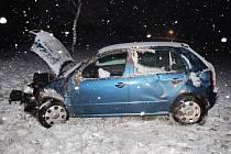Vůz řízený devětadvacetiletou ženou narazil u Mostku do stromu. Škoda na autě a stromě činí čtyřicet a půl tisíce korun.