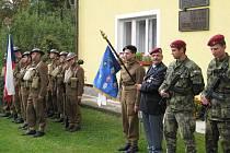 V Žamberku se konaly oslavy 65. výročí příchodu zpravodajské paraskupiny.