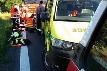 Smrtelná dopravní nehoda u obce Třebovice.