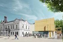 Návrh nového kulturního domu v Lanškrouně.