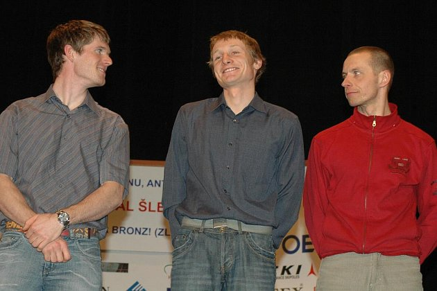 """Na OH vyrazila """"svatá letohradská trojice"""" (zleva) Michal Šlesingr, Ondřej Moravec a Roman Dostál. Zazáří někdo z nich a přiveze domů medaili? Foto: Petr Wagenknecht"""