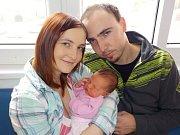 Sofie Kolmanová přišla na svět s váhou 3460 g dne 29. 12. v 2.46 hodin. Těšit bude v Horní Dobrouči rodiče Pavlu a Jakuba i brášku Vladimíra.