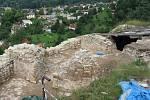 Archeologický výzkum v roce 2020 - odkrytý západní palác.