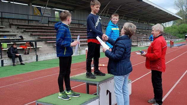 Školák Vojtěch Martinec vyhrál v okresním trojboji