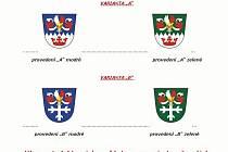 Varianty obecního znaku v Běstovicích.