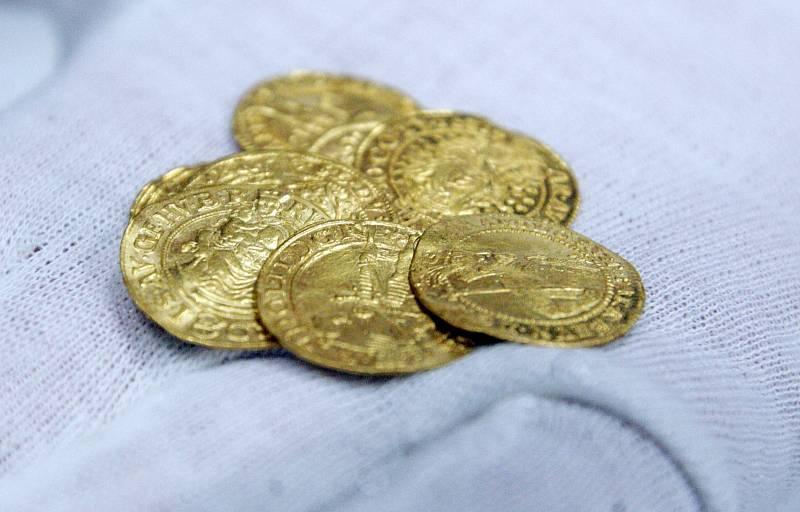 Zlatý poklad nalezený u Králík