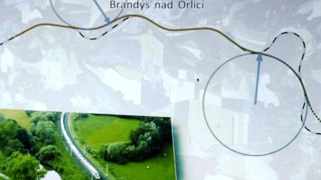 Trať mezi Ústím a Chocní napřímí tři tunely.