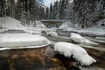 Zemská brána v zimě.