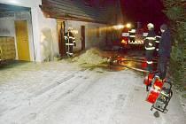 Požár v Horní Čermné.