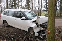 Nehoda mezi Verměřovicemi a Jablonným nad Orlicí.