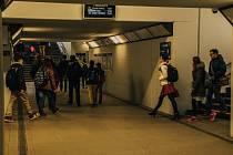 Podchod na ústeckém nádraží.