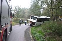 Nehoda autobusu v katastru obce Horní Orlice.