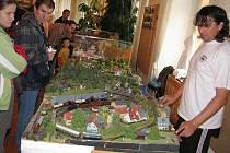 Z výstavy železničních modelů a kolejišť v choceňském muzeu.