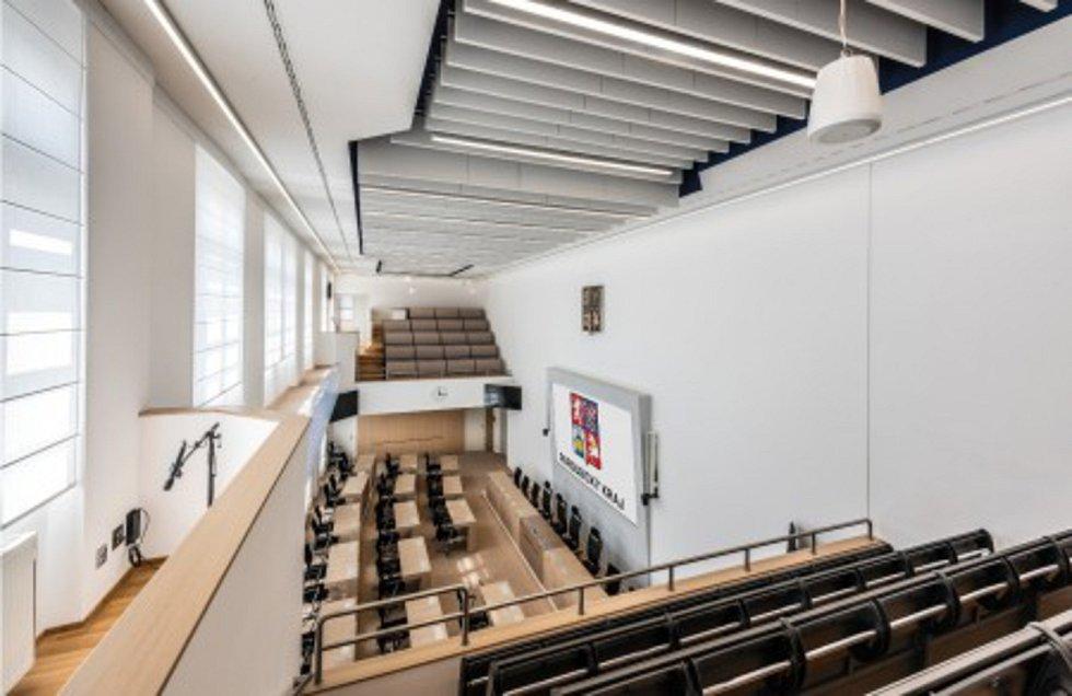 Modernizace sálu zastupitelstva KÚ Pardubice