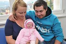 Natálie Šulcová, tak se jmenuje první potomek Zuzany a Daniela z Nekoře. 22. září ve 20.36 vážila 3,03 kg.
