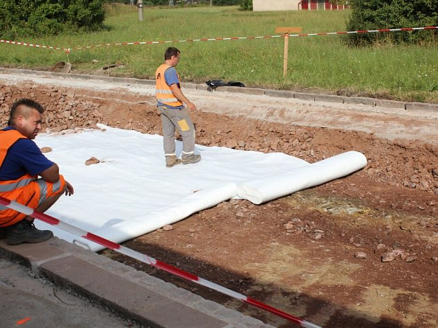Modernizace silnice II/315 - ulice Pardubická v Chocni.