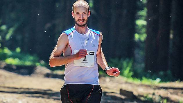 Robert Krupička během závodu na Dolní Moravě.