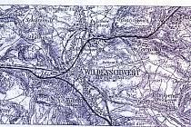 Mapka plánovaného průplavu D-O-L z počátku první republiky.