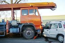 Dopravní nehoda v Dolní Moravě.