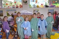 Exkurze z MŠ Klubíčko Ústí nad Orlicí na dětském oddělení Orlickoústecké nemocnice.