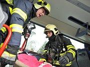 Cvičení integrovaného záchranného systému v Orlickoústecké nemocnici.
