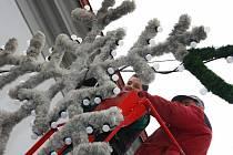 Vánoční výzdoba v Ústí nad Orlicí.