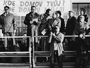 Z demonstrací za odchod sovětské armády z Vysokého Mýta.