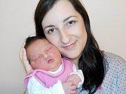 Eliška Šimková je prvorozená holčička Miroslavy a Jiřího z Písečné. Narodila se 13. 1. v 4.09 a vážila 4030 g.