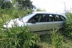 Havárie osobního automobilu mezi Jablonným nad Orlicí a Suchým vrchem.