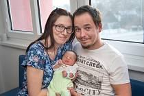 Ondřej Červenka se narodil 17. 1. v 11.07 hodin. Vážil 2692 g a s rodiči Pavlou a Pavlem bude doma v Jakubovicích.