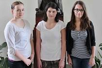 Tým ústeckého gymnázia ve složení Kateřina Bubnová, Anna Marie Dombajová a Zuzana Hejlová.
