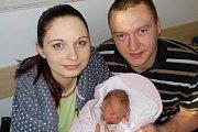 Tereza Frintová se narodila 25. 2. v 10.48 hodin. Doma bude zlatíčkem pro Evu Dvořákovou a Ondřeje Frinta z Vamberka.
