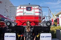 Slavnostního křtu lokomotivy EffiShunter 1000 se na berlínském veletrhu ujala modelka Alena Šeredová.