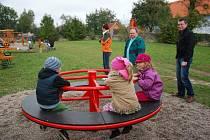 Nové dětské hřiště ve Sloupnici.