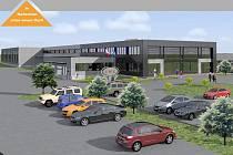 Vizualizace nového výrobního centra v Hylvátech.